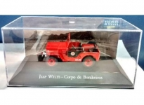MAGAZINE VSB04 1:43 JEEP WILLYS *CORPO DE BOMBEIROS*, RED