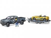 BRUDER 02504 RAM 2500 POWER WAGON AND BRUDER ROADSTER RACING TEAM