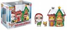 FUNKO 44423 POP! TOWN: / HOLIDAY - SANTAS HOUSE W/ SANTA & NUTMEG
