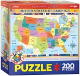EUROGRAPHICS 6200-0651 MAP OF THE US 200 PIEZAS PUZZLE