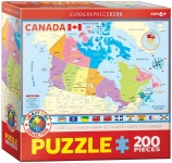 EUROGRAPHICS 6200-0797 MAP OF CANADA 200 PIEZAS PUZZLE