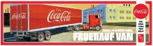 AMT 1109 1:25 COCA COLA FRUEHAUF VAN MODEL FB BEADED PANEL SEMI TRAILER
