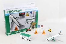 REALTOY RT7591 FRONTIER AIRLINES DIE CAST PLAYSET (8PC SET)