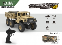 GIGATOYS D848 EAST NO.8 1:18 24G SIX WHEEL RC MILITARY TRUCK