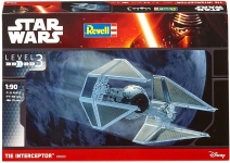 REVELL 03603 1:90 TIE INTERCEPTOR *STAR WARS*. LEVEL 3 PLASTIC MODELKIT