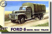 PST 72051 1:72 FORD 6 MOD, 1943 ARMY TRUCK W/CANVAS