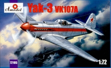 AMODEL 72105 1:72 YAK3 VK107 SOVIET FIGHTER