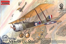 RODEN 402 SOPWITH 1 1/2 STRUTTER ( TWO SEATS ) FIGHTER 1:48
