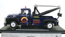 WELLY 19834 1956 FORD F-100 TOW TRUCK BLUE 1:18