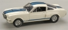 SHELBY 160 1:18 1966 GT 350 MUSTANG WHITE-BLUE