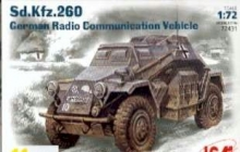 ICM 72431 1:72 SD KFZ 260 WWII GERMAN RADIO COMMUNICATION VEHICLE