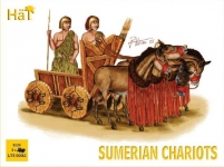HAT 8130 1:72 SUMERIAN CHARIOTS (2 SOLDIERS, 4 HORSES & 3 CHARIOTS)