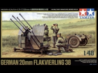TAMIYA 32554 1:48 GERMAN 20MM FLAKVIERLING 38