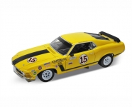 WELLY 12527 MUSTANG BOSS 302 1970 1:18 S.S. JACOBS YELLOW