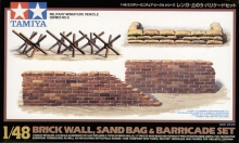 TAMIYA 32508 1:48 BRICKWALL/SANDBAG/BARR