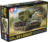 TAMIYA 32538 1:48 RUSSIAN KV 2 HEAVY TAN